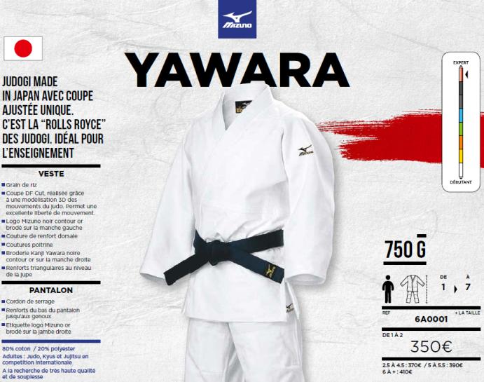 84700d4a22d6 Kimono Mizuno YAWARA – Judo – Mouilleron le captif